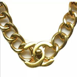 CHANEL Jewelry - Authentic CHANEL XL CC Turn-lock Gold  Choker